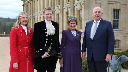 The Duke and Duchess with Lord and Lady Burlington
