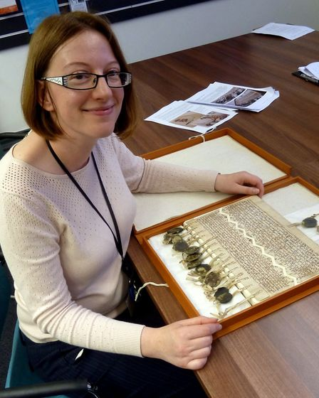 Sarah Chubb, Local Studies Manager at the Derbyshire Record Office