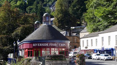 One of the many fish and chip restaurants in Matlock Bath