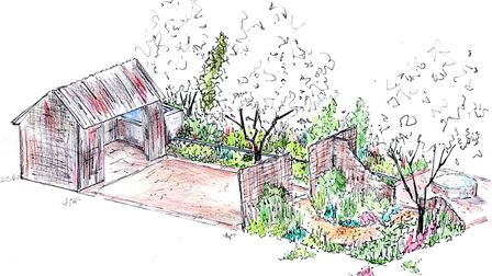 Design for the Brewin Dolphin Artists Garden, showcasing how the natural world forms the foundation of craftwork