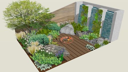 Design for Eutierria, a Mindfulness Garden creating a relaxed space to sit and tune in to nature