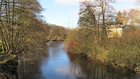 The River Derwent taken from Leadmill Bridge by Sally Moseley