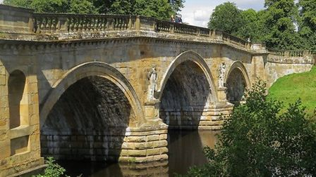Paine's ornate bridge over the Derwent by Sally Moseley