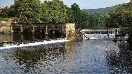 Weir and sluce gates beside North Mill by Sally Moseley