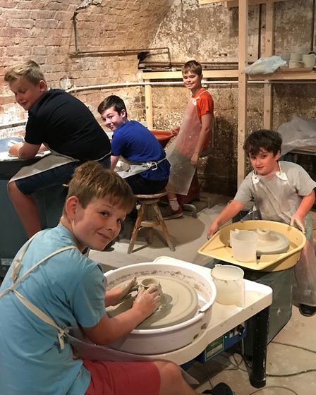 Budding potters - the Saturday Club