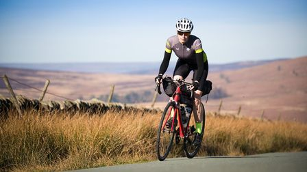 Lorna Fisher puts in some last minute training in the Peak District Photo: Rod Kirkpatrick/F Stop Press