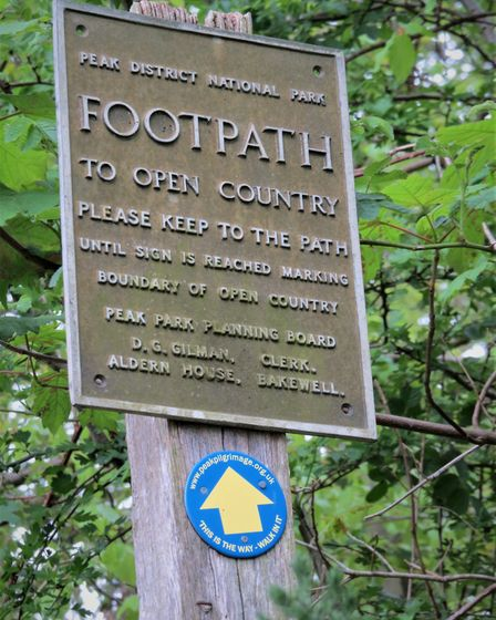 An old footpath sign