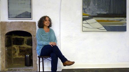 Rachael Pinks at the gallerys inaugural exhibition Ikigai, paintings by Daisy Cook and Susan Laughton