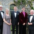 Col John Wilson, Jill Tucker, High Sheriff Lord Burlington, Bishop of Derby Libby Lane and Lord-Lieutenant Willie Tucker