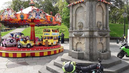 Grade II listed Samuel Turner Memorial Drinking Fountain in Buxton