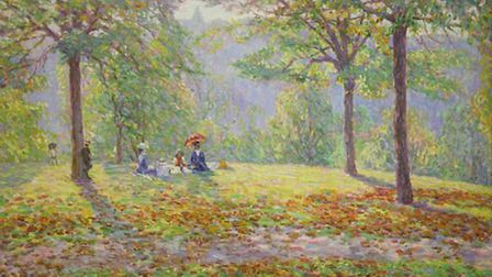 'The Picnic' 1908 Wynford Dewhurst - Manchester City Galleries