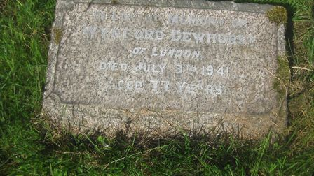 Small monument to a big life - the grave of Impressionist painter Wynford Dewhurst in St Wystan's Churchyard Repton Photo:...