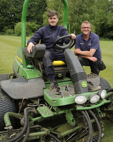 Greenkeeper Shane McKeown and Course Manager Gavin Robson