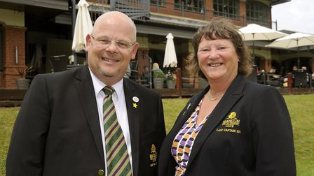 Golf captains Paul Allen and Lynne Woolley