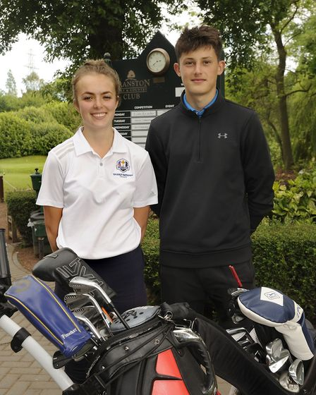 Junior Vice-Captain Issy Bryon and Junior Captain Tom Alford