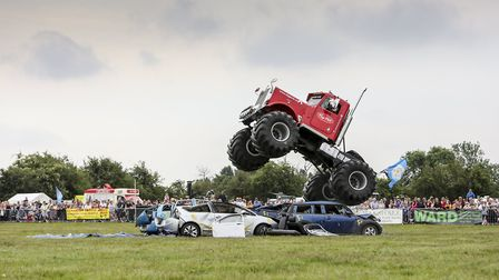 Monster Truck  Big Pete thrills the main ring audience