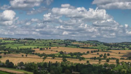 A panorama of the Ecclesbourne Valley taken from the highest point in Turnditch