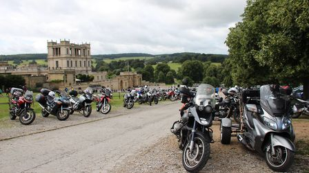 Taking over the car park at Chatsworth
