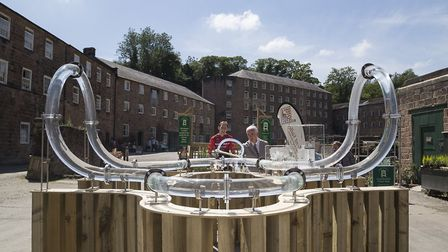 The installation in situ at Cromford Mills