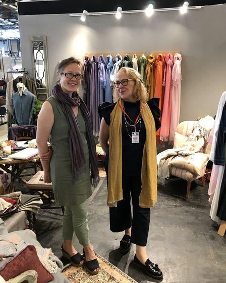 Susanna and her daughter exhibiting at Maison et Objet in Paris