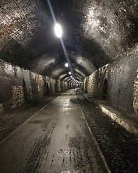 Cressbrook Tunnel - Loads like this on getty images