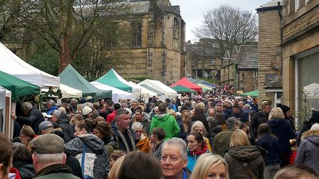 Church Street awash with people visiting the Christmas Fayre