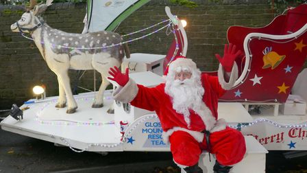 Father Christmas makes an appearance courtesy of Glossop Mountain Rescue