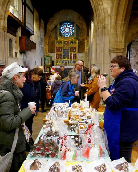 Cakes on sale in the Parish Church