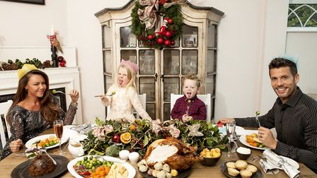 Table manners with pop singer Michelle Heaton and her family - featuring Jilly's Christmas decorations Photo: Rich Barr