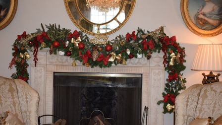 Essentially Christmas - one of Jilly's designs for a mantelpiece garland