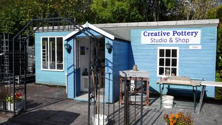 Lee Waterman's Creative Pottery Studio and Shop in the Hope Valley Garden Centre, Bamford
