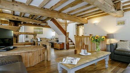 The old mill workings are an integral part of the living area