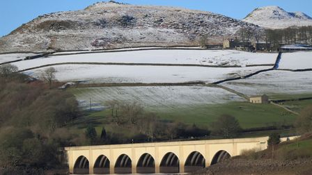 View of the viaduct and Crook Hill