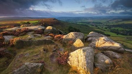 First Light at Curbar Edge by Andy Hemingway