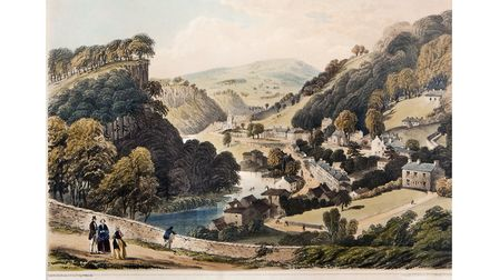 Matlock Bath from the Heights of Abraham, lithograph, Newman & Co, published by Bemrose & Son Derby and Matlock Bath...