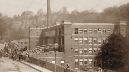 The construction of Masson Mill, 1911 - Glynn Waite collection