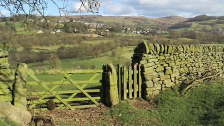 The countryside surrounding Hathersage by Sally Mosley