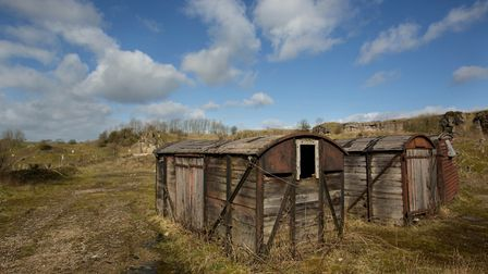 The old railway carriages - relics of the quarry's industrial past