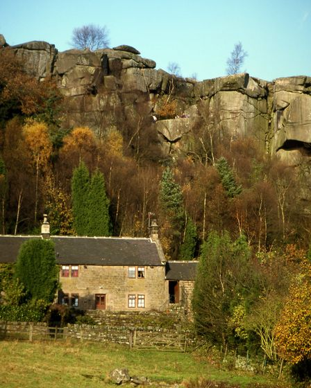 Looking toward Cratcliffe Rocks and the Hermit's Cave Photo: Gary Wallis