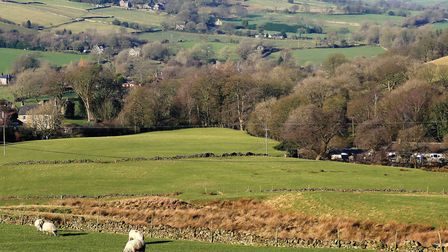 Looking from Pyegreave towards the valley of Combs