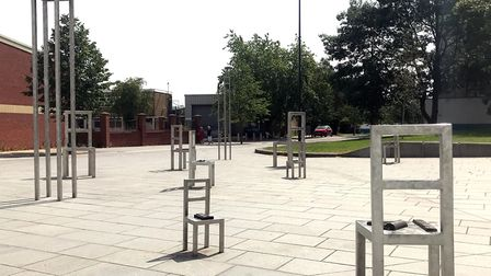 A cluster of art chairs in Castleward