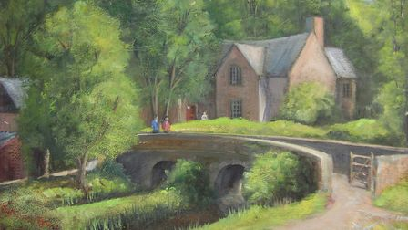 Milldale, Derbyshire Dales painting by Richard Holland