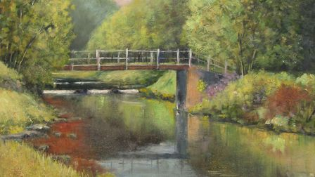 Cheedale Bridge, Derbyshire Dales painting by Richard Holland