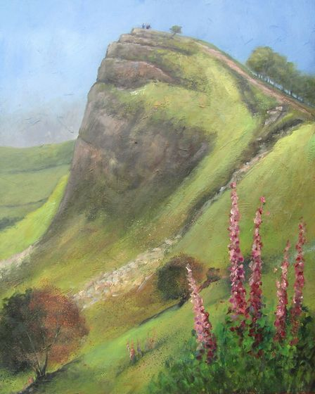 Back Torr, Derbyshire Dales painting by Richard Holland
