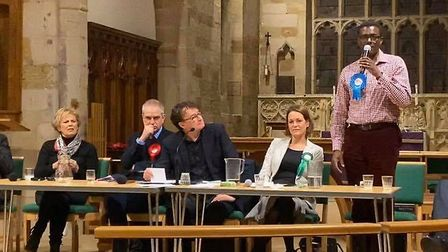 Conservative candidate Darren Henry told a Broxtowe hustings that food bank users should consider us