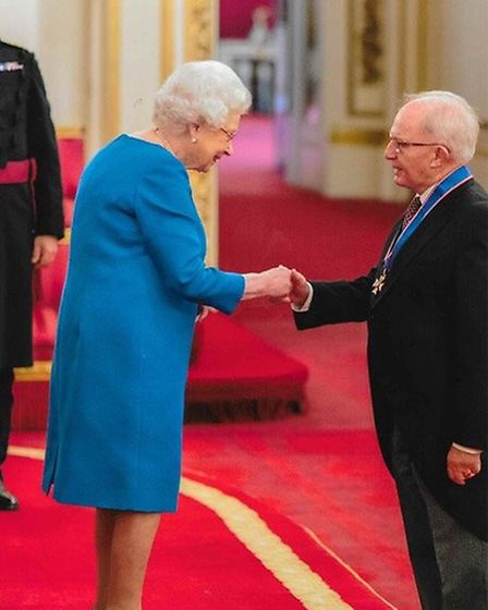 Willie Tucker is honoured by Her Majesty the Queen at Buckingham Palace