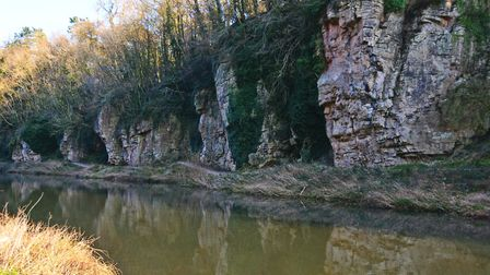 A view of the limestone outcrops at Creswell Crags (c) Peter Wooton/Getty Images/iStockphoto