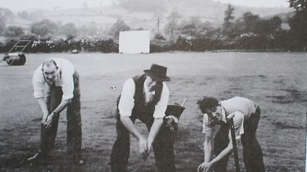Restoring the ground in 1945