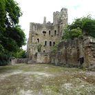 The ghostly remains of the once magnificent Wingfield Manor