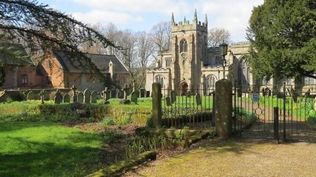 Norbury's Church of St Mary and St Barlok by Sally Mosley